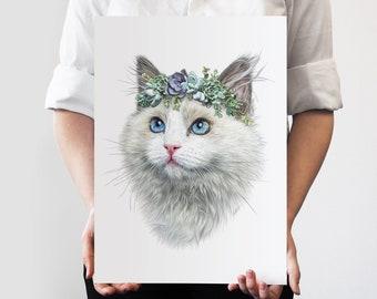 Lilly Flower Crown Pet Portrait