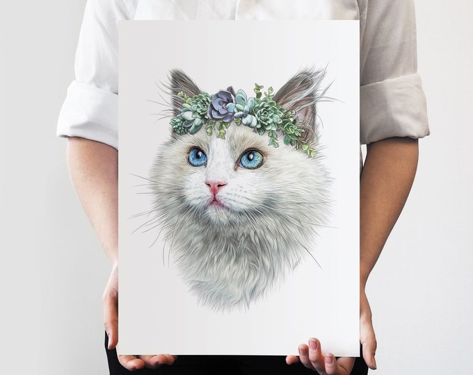 Lilly Flower Crown Pet Portrait