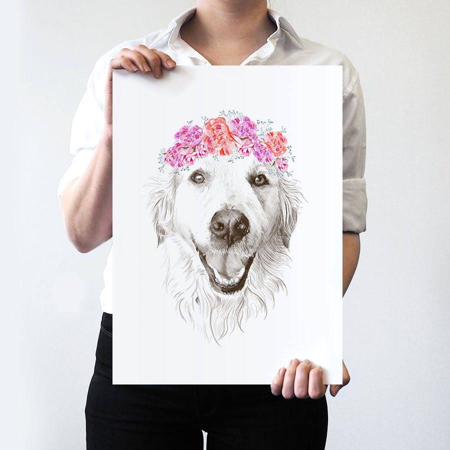 Pet portrait flower crown izmirmasajfo