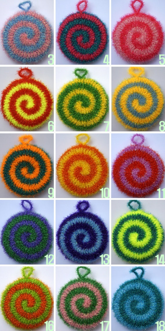 Buy 5 Get 1 Free Crochet Spiral Scrubbies Spiral Susemi Etsy