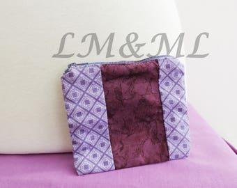 Purple fabric wallet