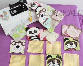 Fabric theme animals memory game