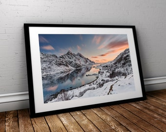 "Seascape Fine Art print || Norway || ""Sunset in Heaven"""
