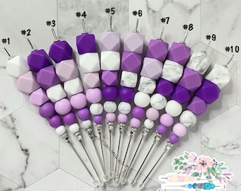 """6"""" Purple White Collection, Cookie Scribe, Scribe Tool, Pink Scribe, Lilac Scribe, Cream Scribe, Silicone Scribe, Cookie Tool"""