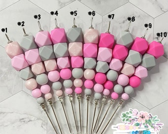 """6"""" Pink Gray Collection, Cookie Scribe, Scribe Tool, Pink Scribe, Lilac Scribe, Cream Scribe, Silicone Scribe, Cookie Tool"""