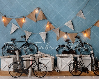 Bicycle 10x12 FT Photo Backdrops,Hipster Gentlemans Vintage Accessories Bicycle Camera Bow Tie Handlebar Moustache Background for Photography Kids Adult Photo Booth Video Shoot Vinyl Studio Props