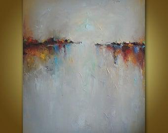 Peinture A Lhuile Peinture Sur Toile Art Contemporain Etsy