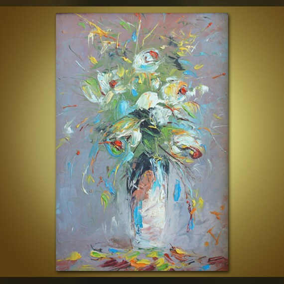 Öl Malerei Abstrakte Malerei Ölgemälde Wand Dekor Rahmen | Etsy