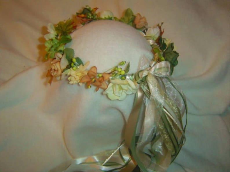 Silk Flower Old fashioned romantic style halo Renaissance Weddings Adelina