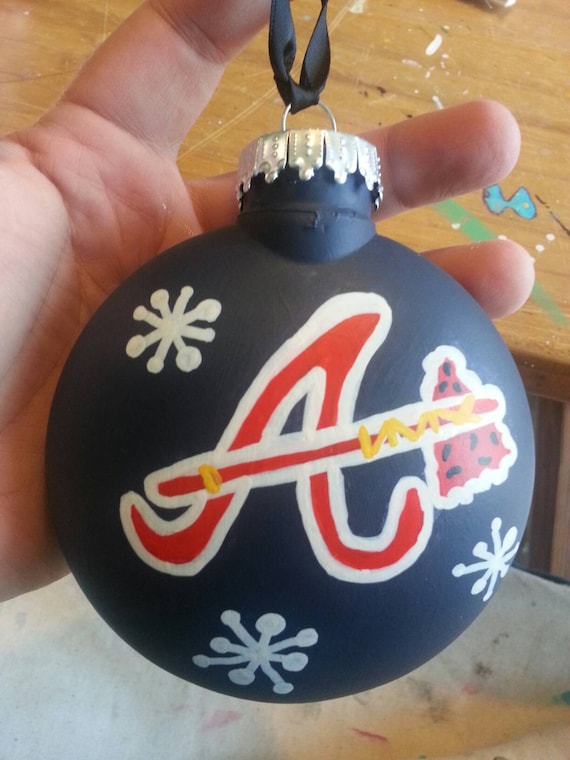 Atlanta Braves Christmas ornament hand painted personalized - Atlanta Braves Christmas Ornament Hand Painted Personalized Etsy