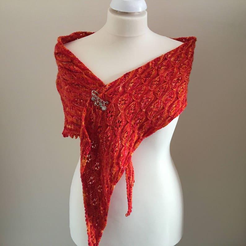 Butterflower Wrap Scarf Shawl Knitting Pattern image 0