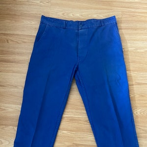 W40 L27.5 L French Indigo Blue Work Trousers  Chore Pants