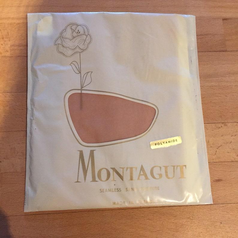 9.5  M Vintage French Montagut Paris Tan Stockings 2 Pack