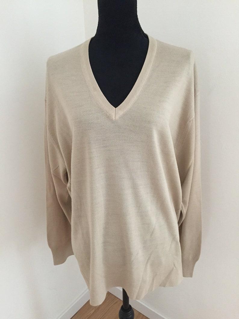 7480d67063c Montagut Paris Fil Lumiere Mens Retro V Neck Sweater XXL | Etsy