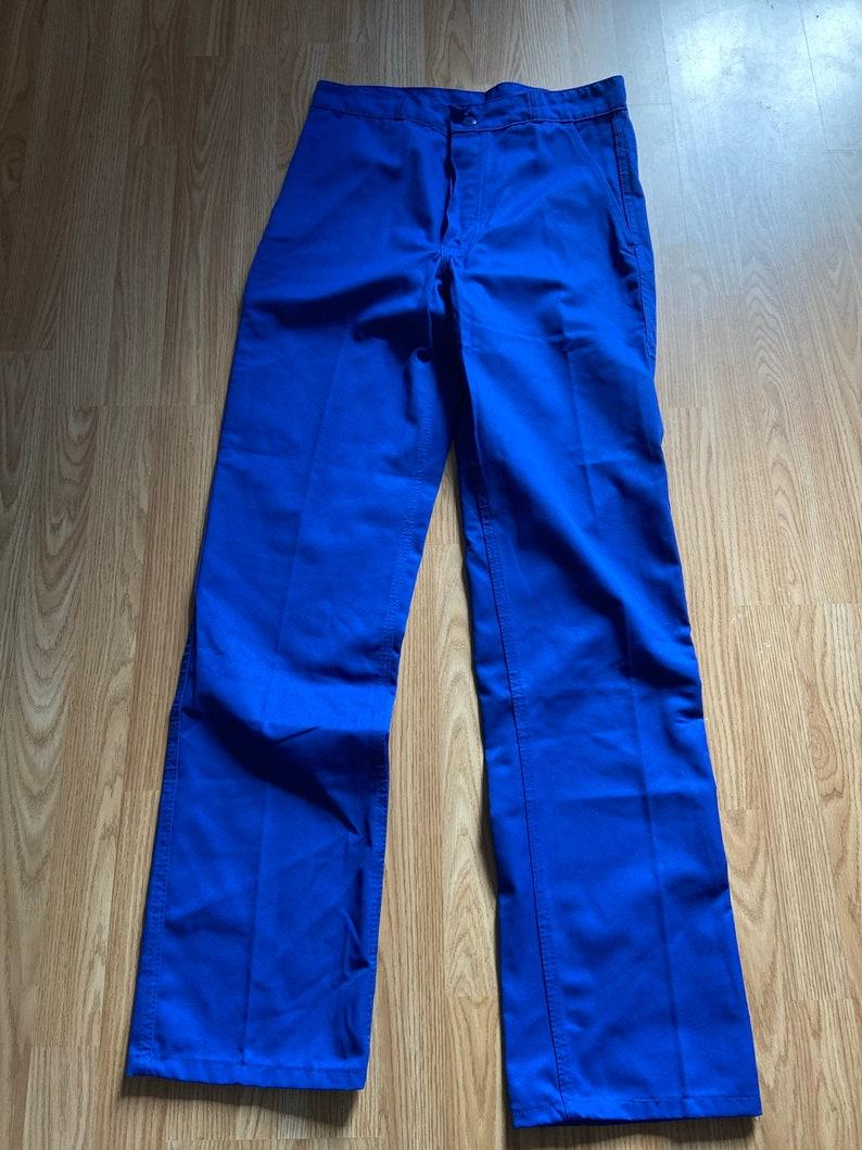 French Polycotton Bugatti Bleu Chore Pants  Bleu De Travail W32 L35 Unworn