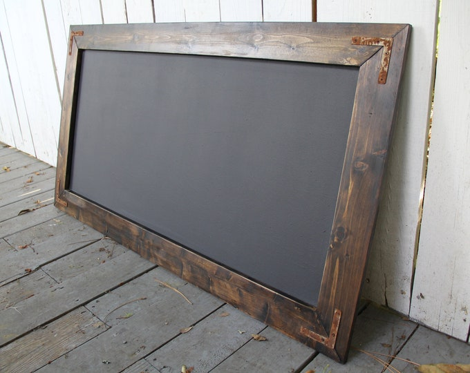 Large Rustic Farmhouse Magnetic Chalkboard | Modern Rustic | Wall Hanging | Rustic Sign | Shabby Chic | Wedding | School Kid | Reclaimed |