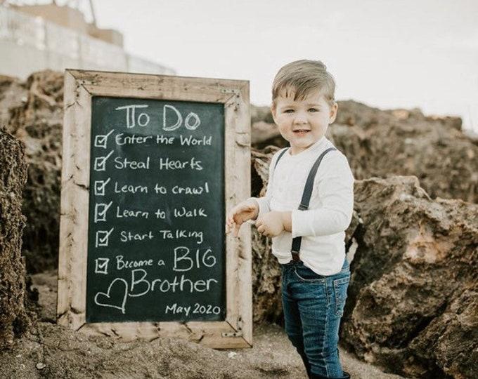 Large Rustic Farmhouse Magnetic Chalkboard   Distressed   Vintage   Rustic   Coastal   Beach   Shabby Chic   Wedding   Reclaimed   Grey