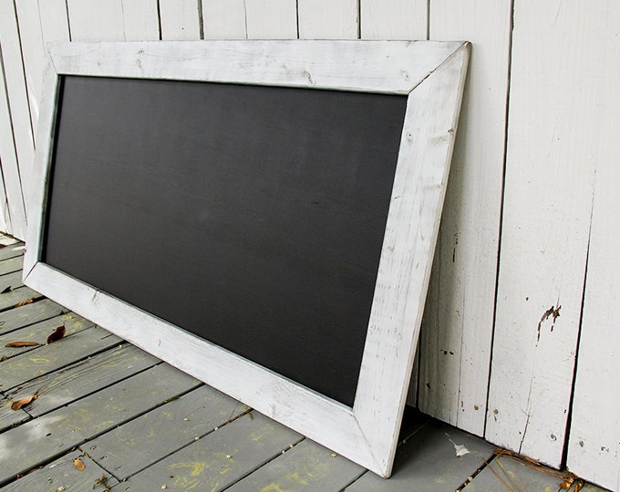 Large Rustic Farmhouse Magnetic Chalkboard | Distressed | Vintage | Rustic | Shabby Chic | Wedding | Reclaimed | White
