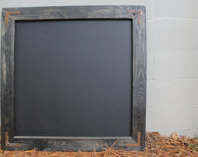 Large Rustic Farmhouse Magnetic Chalkboard | Distressed | Vintage | Rustic | Shabby Chic | Wedding | Reclaimed | Ebony