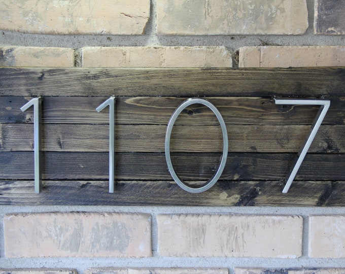 Modern Rustic Home Address Sign | Farmhouse | Espresso | House Address | Home Decor | House Numbers Plaque | Rustic Decor | Home Address |