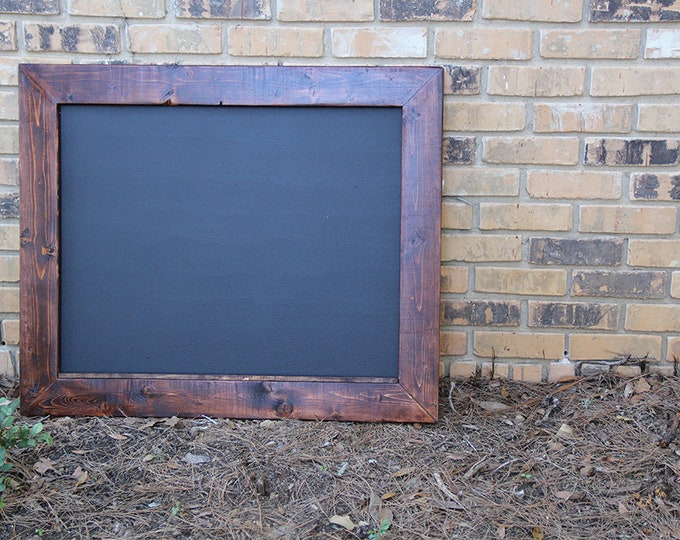 Large Rustic Farmhouse Magnetic Chalkboard | Distressed | Vintage | Rustic | Shabby Chic | Wedding | Reclaimed | Heart of Pine