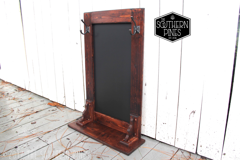 Farmhouse Magnetic Chalkboard Coat Rack | Entry Way Rack | Key Rack ...