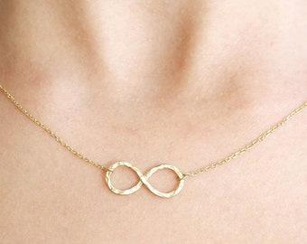Infinity Necklace, Gold Infinity Necklace, Gold Eternity Necklace, Simple Gold Necklace, Layered Necklace, Symbol Necklace, SN0034