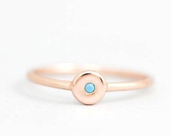 Turquoise Ring, Tiny Turquoise Ring, Dainty Silver Ring, Dainty Turquoise Ring, Blue Stone Ring, Silver Stone Ring, Minimalist Ring, SR0019