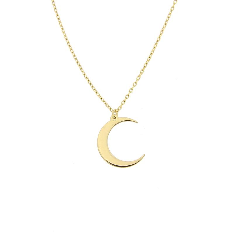 940234f8bd8a Lune collier pour femme croissant or Dainty posé délicat