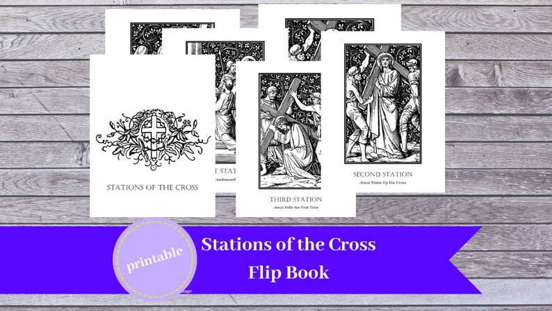 image relating to Printable Stations of the Cross identified as Catholic Stations of the Cross Printable Change Reserve: Lent commitment / Catholic liturgical yr / Catholic coloring web pages / Catholic printable