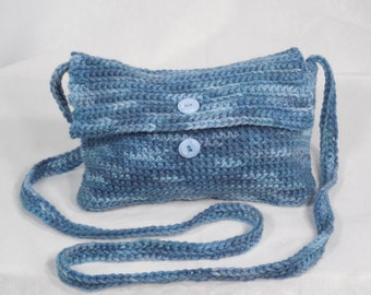 Purse Small Blue Cross-body