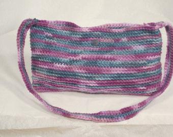 Purse Small purple and blue multicolored