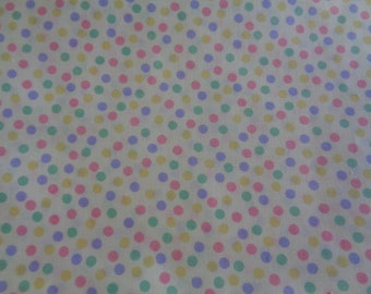Cotton Fabric Pastel Teal Mini Polka Dot By the Yard #CT022