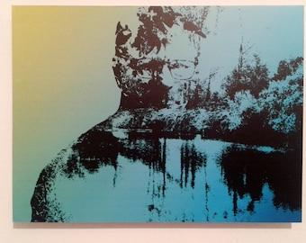 Serial Popers Gary Ridgway,Glitch Art,Vinyl,Aluminium,40x30cm(15.74x11.81 inches),Limited Edition
