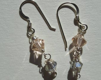 Swarovski Crystal Sterling Silver Drop Earrings