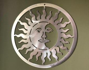 Sun and moon wall decor, Sun and moon, sun, moon, Celestial sun, Wall decor, wall art, Sun and moon design, Sun and Moon wall art