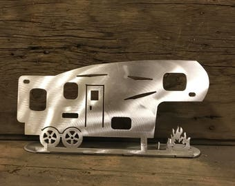 Camper 5th Wheel Tea Light Camping Candle Holder Fifth