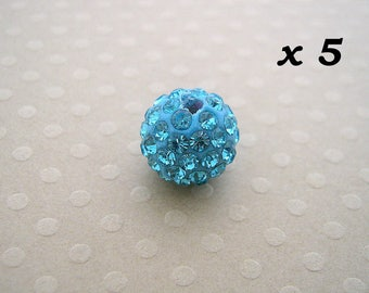 5 rhinestone 10 mm - L5694 aquamarine beads