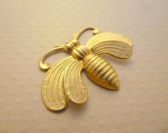 Print Butterfly pendant gold 49 x 32 mm