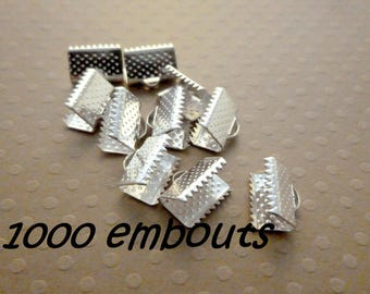1000 ends to tighten 10mm silver - L1000457