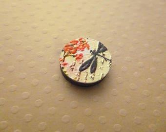Cabochon palet en bois Libellule 16mm - CB-1543