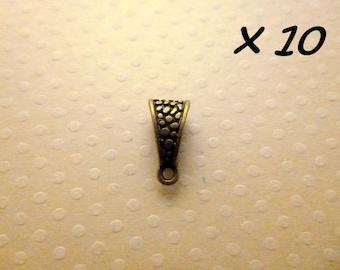 x 10 tie pendant bronze 14 x 7 mm - L894