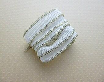 Silk Ribbon yarn hand dyed color metallic No. 927