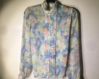 the delicate flower blouse