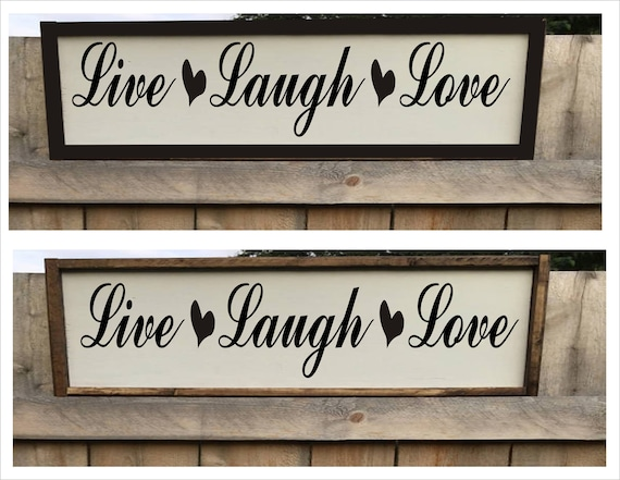 Framed Style Wood Sign Live Laugh Love Farmhouse Decor Signs 6 Etsy,Country Farmhouse Kitchen Lighting Ideas