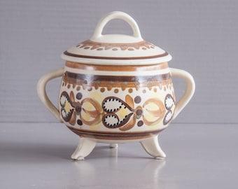 Sugar Bowl Quimper | HB Quimper Bonbon dish Henriot Sugar Bowl | Quimper Bonbon dish | Britanny | Britanny Folk art | Quimper pottery |