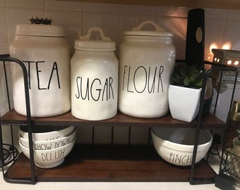 Rae Dunn Inspired Canister Vinyl Decals for Canisters, Canister Decals, Coffee, Rice, Bread, Sugar, Tea, & Custom, VINYL ONLY