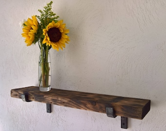 Steel Shelf Bracket Forged Iron Kitchen Metal Open Custom Shelving Farmhouse Rustic