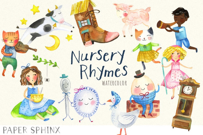 Image result for nursery rhymes clipart