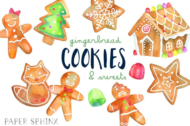 Christmas Cookies Clipart Gingerbread Man Clip Art Holiday Gingerbread House With Gumdrops And Lollipop Digital Instant Download Png